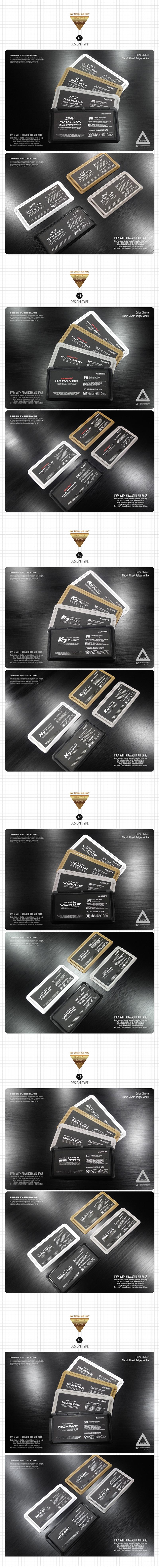[DXSOAUTO] 커스터마이징 4WAY 썬바이저 카드포켓 (1EA / 1SET) 셀토스